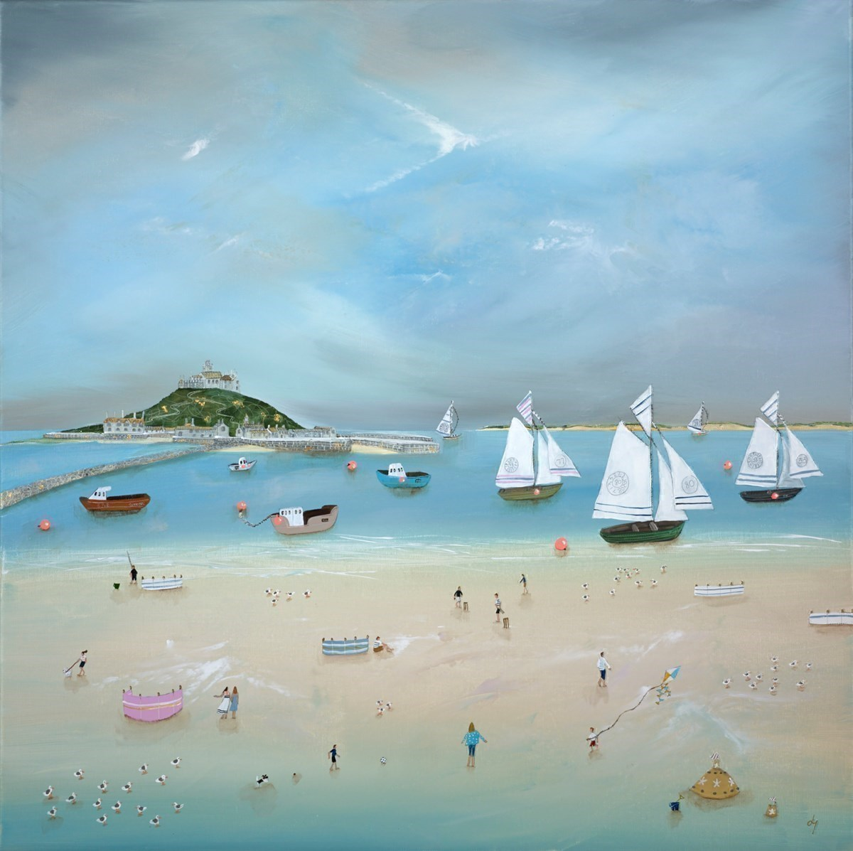 Fun 'n' Frolics by the mount by Lucy Young -  sized 32x32 inches. Available from Whitewall Galleries